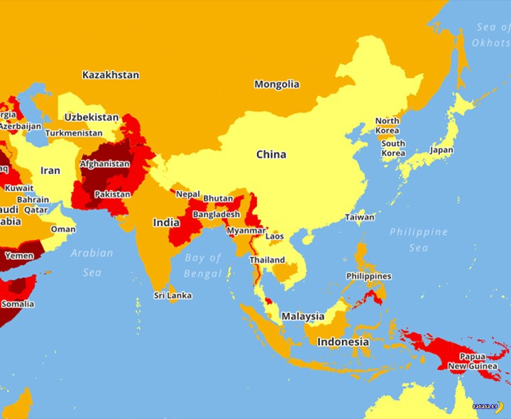 Опасные страны