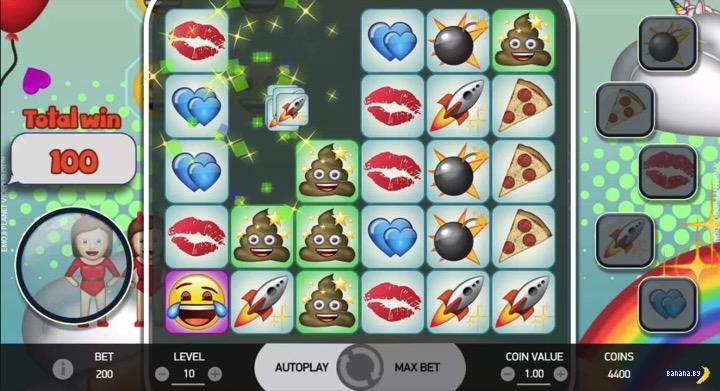 Затягивающий игровой автомат Emoji Planet