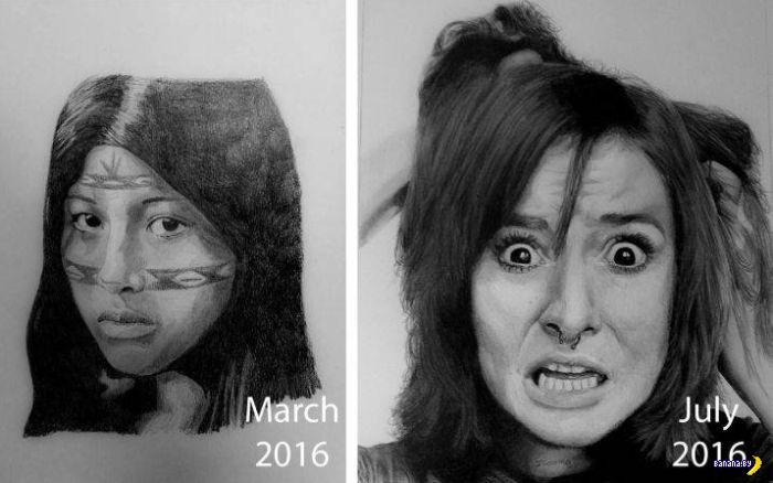 Прогресс с карандашом