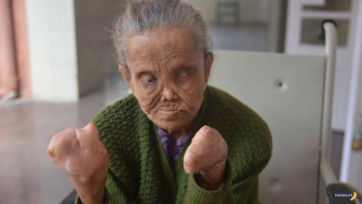 Пенсионерка без биометрических данных