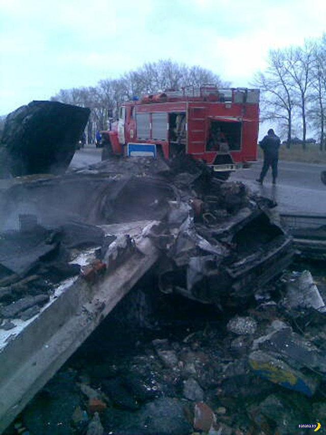 Очень лютая авария в Курской области