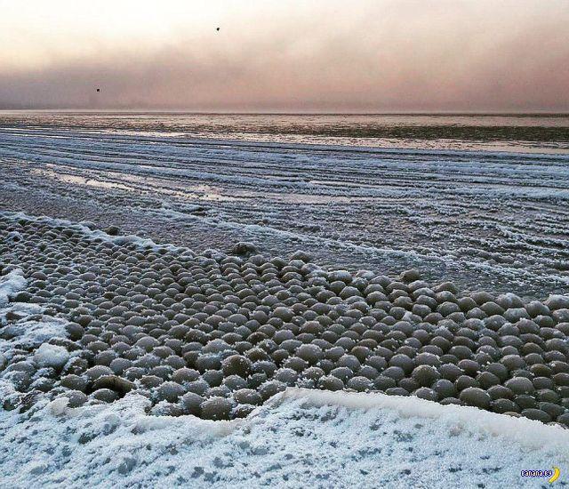 Ледяные шары в Финском заливе