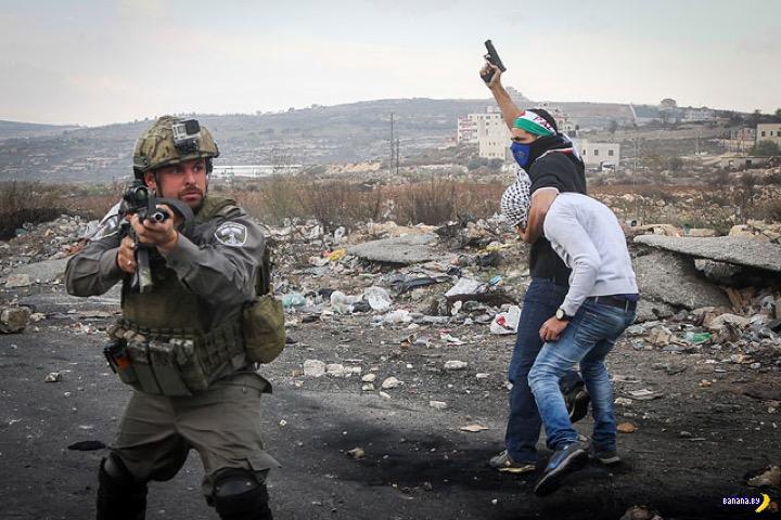 Ряженые арабы из числа израильских силовиков