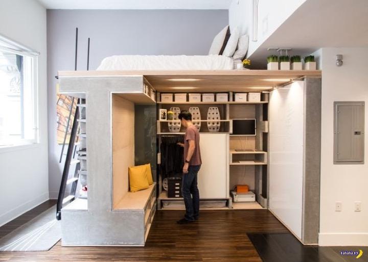 Идея для тесной комнатушки