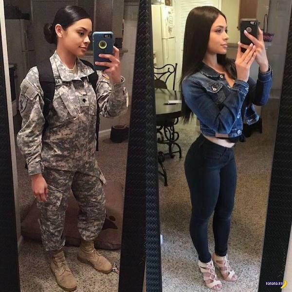 В униформе и без