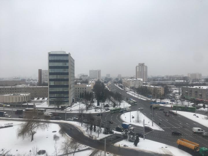 Погода: невыразительная, гололёд