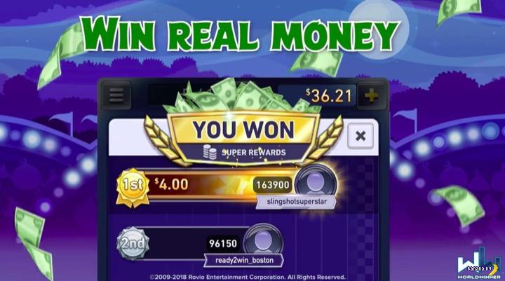 Игра Angry Birds на деньги!
