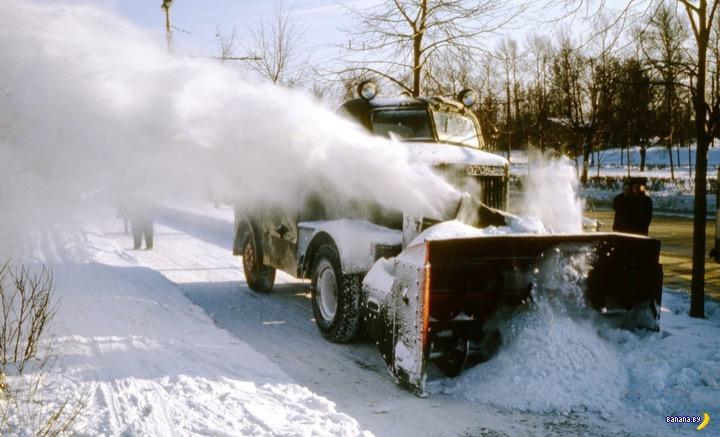 Снегоуборочная техника в Москве 1970-х