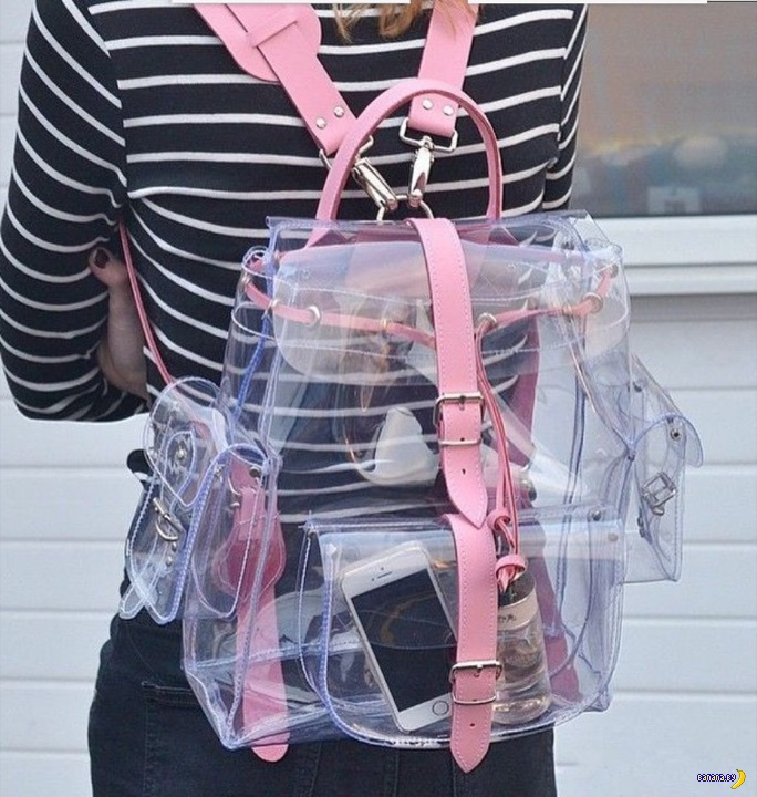 А что это там у тебя в прозрачном рюкзаке?