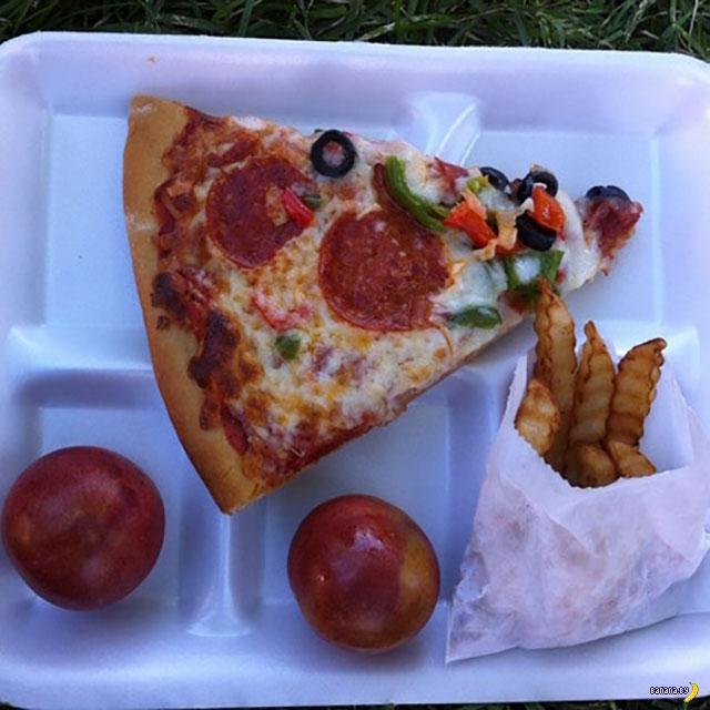 Школьные обеды в США