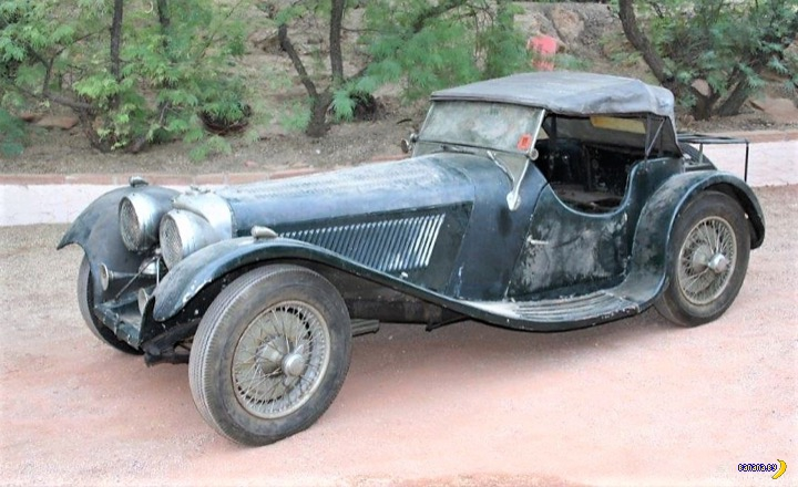 Амбарный клад – редчайший 1938 Jaguar SS-100