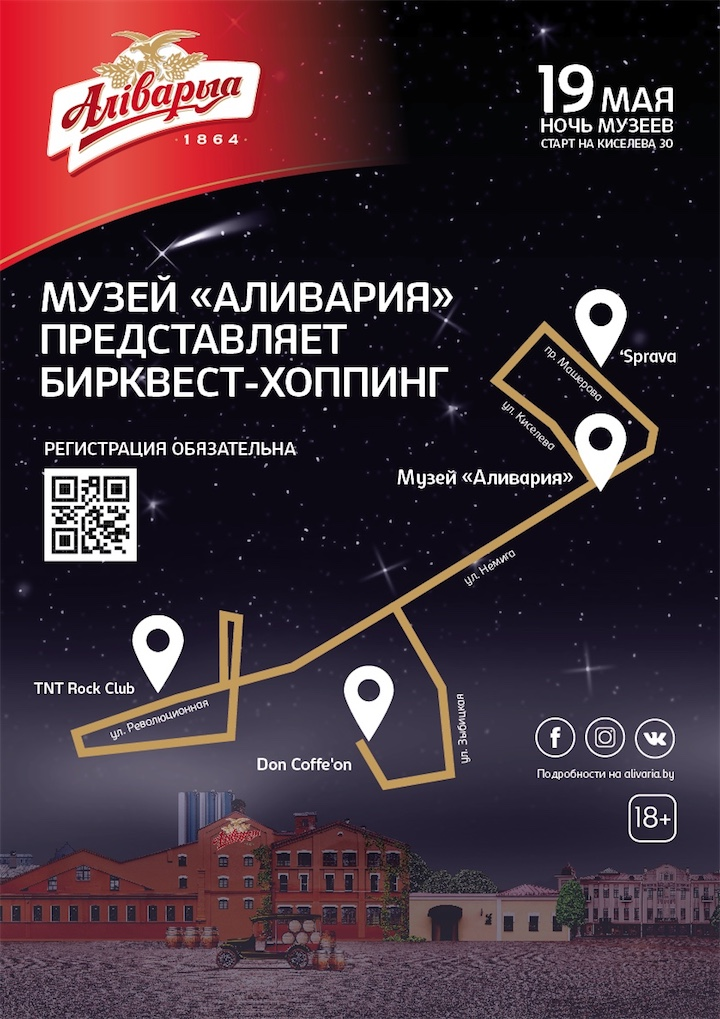 Музей «Аливария» приглашает на бесплатный бирквест-хоппинг!