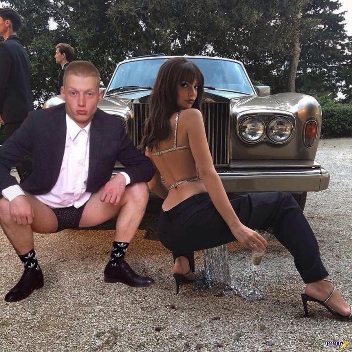 Студент из России и его тёлочка супер-модель