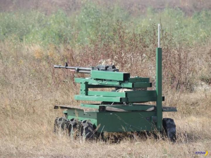 """Украинский боевой робот """"Мисливець"""""""