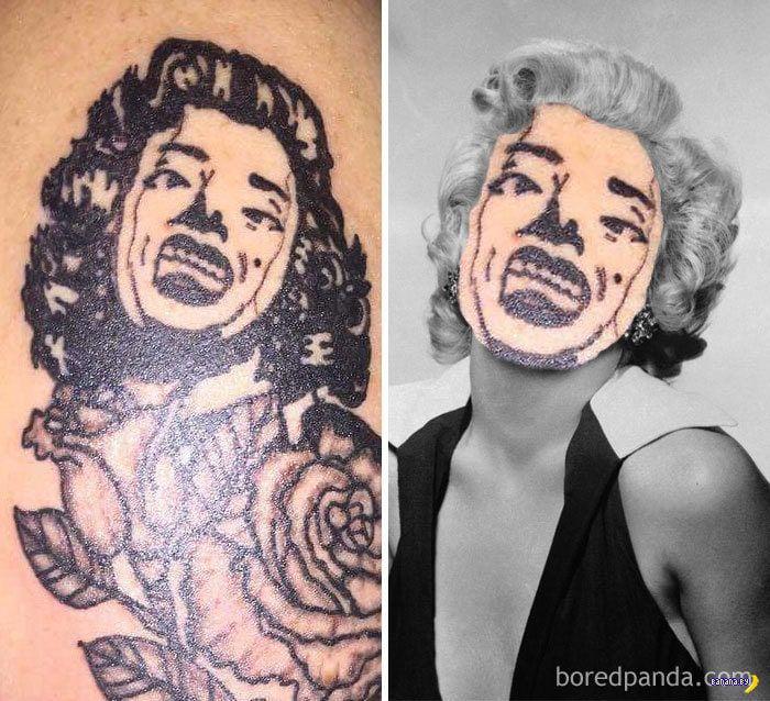 Татуировки с ужасными лицами звезд (17 фото) » Невседома | 638x700