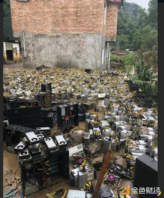 Китайские майнеры стали жертвой наводнения