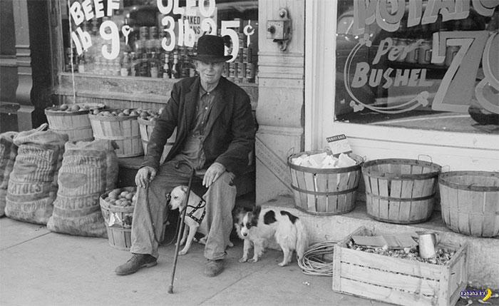 Продуктовые магазины в США на фотографиях разных эпох