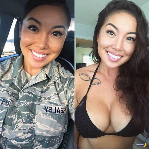 Униформа красит красоток!