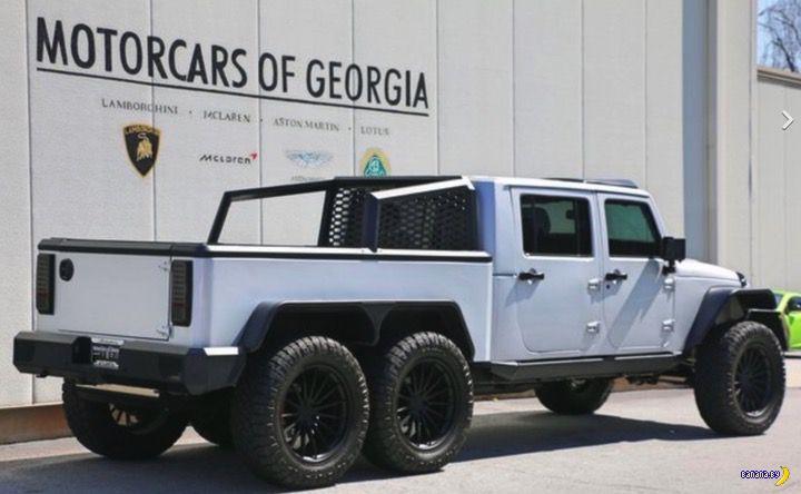 А вот Jeep Wrangler 6x6!