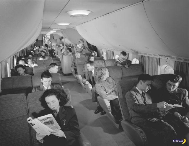 Как выглядели перелёты в 1950-ые
