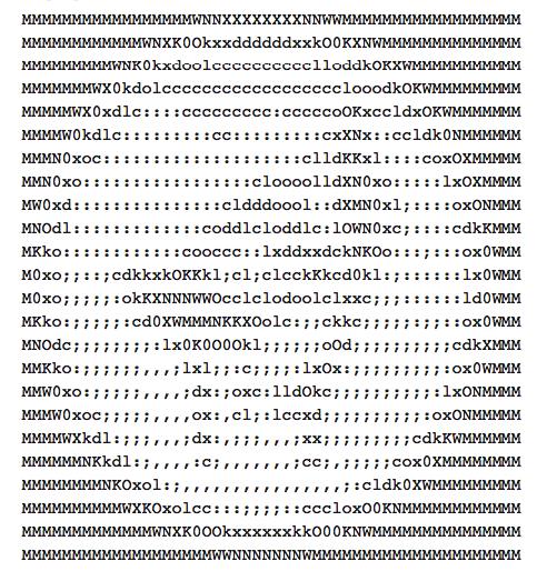 Наколи мне, кольщик, ASCII!