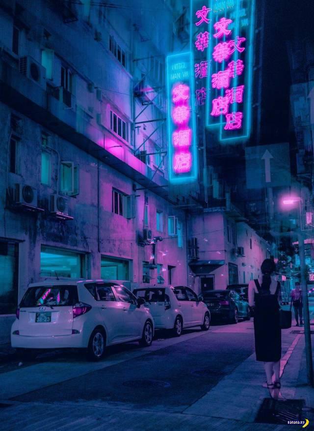 Азия в стиле Киберпанк