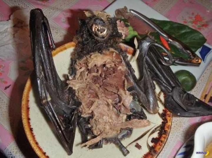 Официант, у нас летучая мышь в супе!