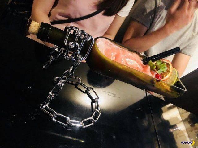 Извините, на тарелках еду мы не подаём!