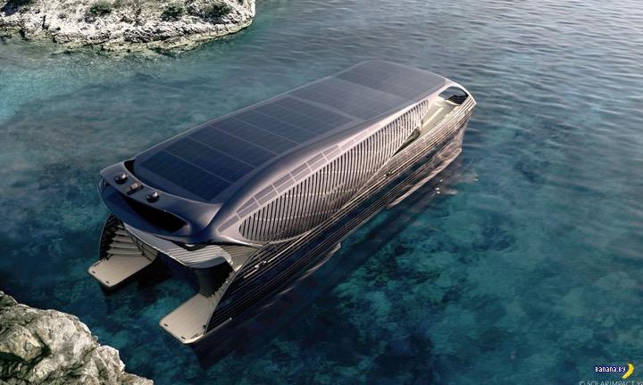 Вот вам электрическая яхта на солнечных батареях