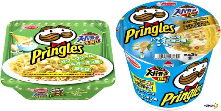 Лапша и чипсы Pringles