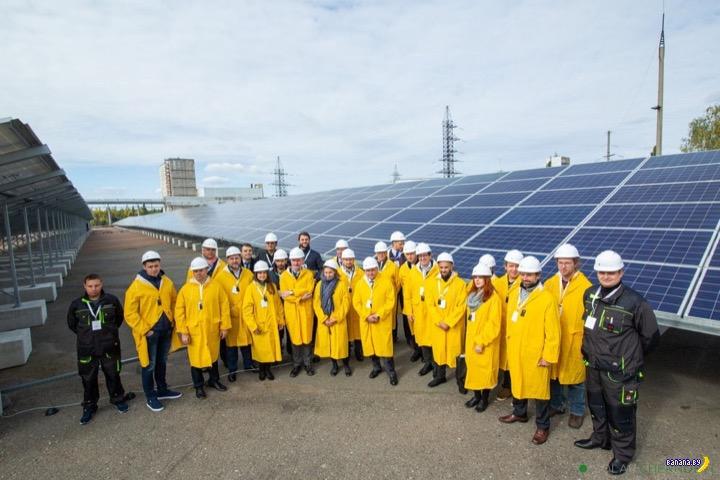 На ЧАЭС разворачивают солнечные панели