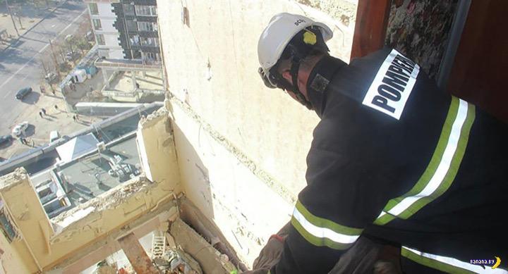 Последствия взрыва газа в Кишинёве