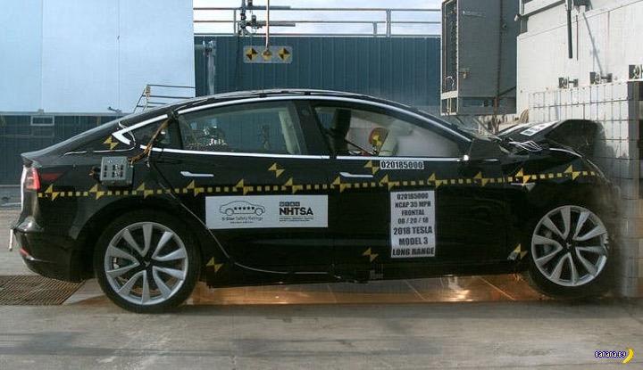 Tesla Model 3 – самая безопасная машина в мире!