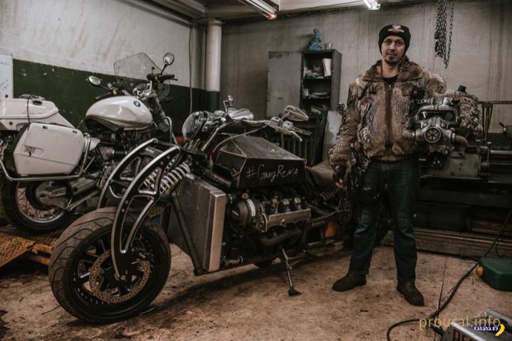"""""""Гангрена"""" – мотоцикл с двигателем V8 от Lexus"""