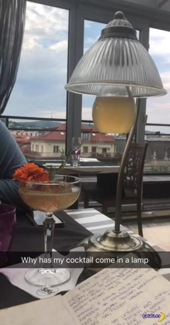 Подача коктейлей для хипстеров