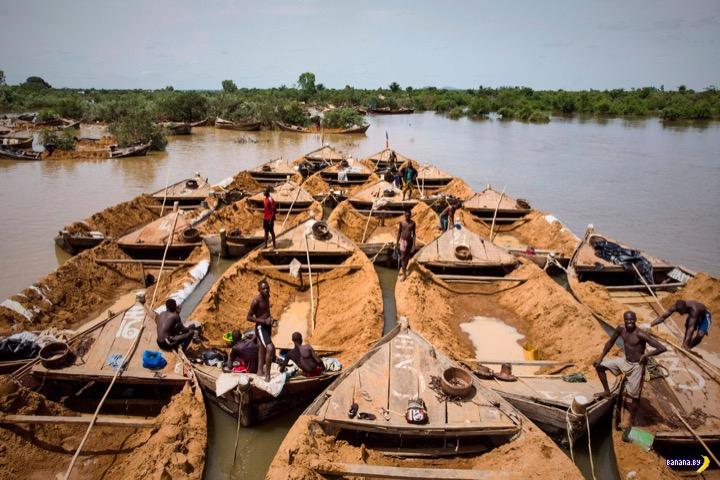 Работа мечты –добыча песка в Мали