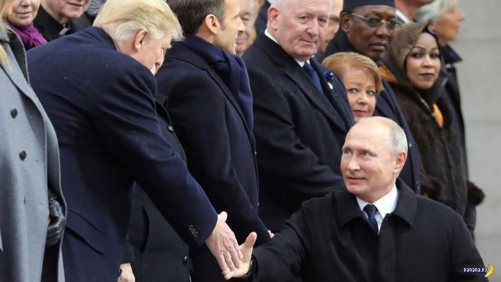 Неудачное фото Путина в Париже
