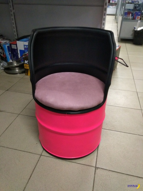 Кресло из бочки своими руками