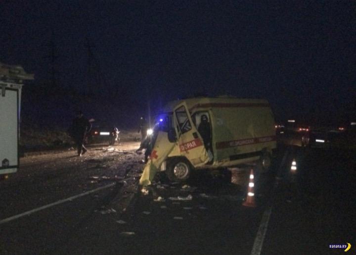 ДТП с машиной скорой помощи на Кубани: 6 человек погибло