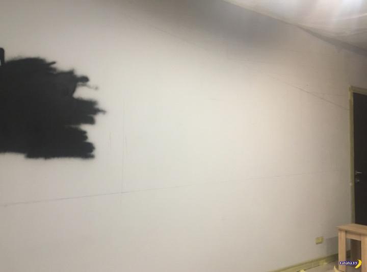 Оформление стены в гараже