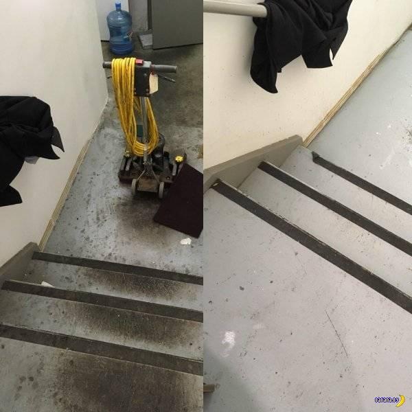 Мойка под давлением –до и после