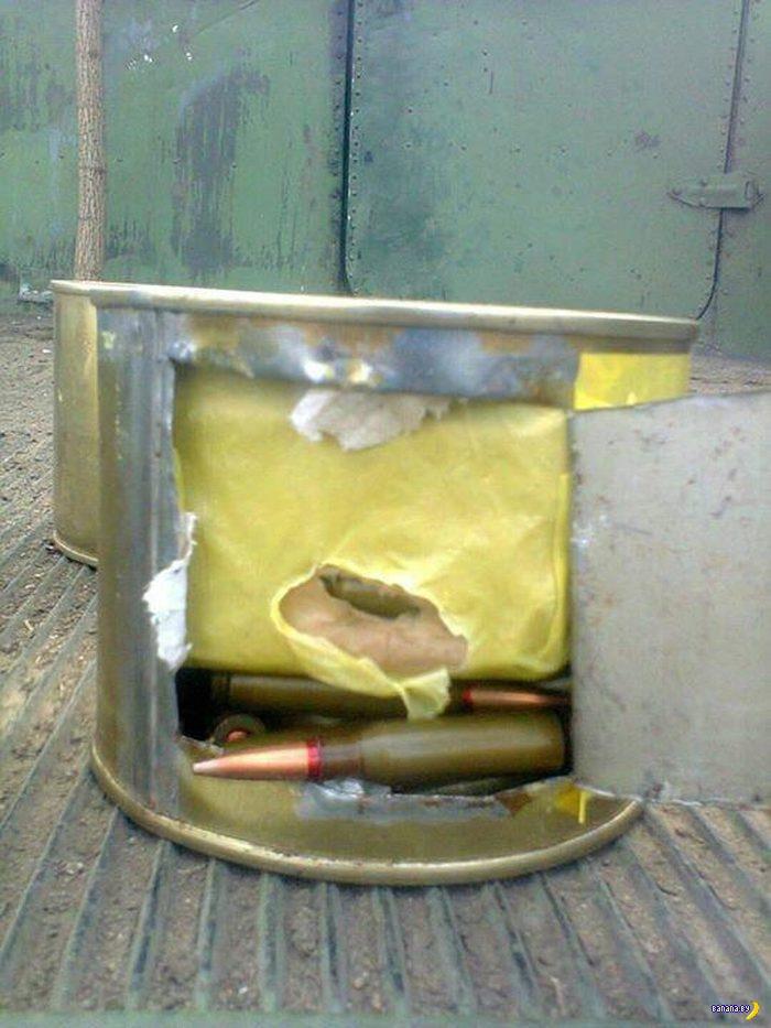 Патроны и гранаты в банках от тушенки