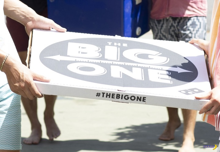 В Новой Зеландии начали продавать метровую пиццу