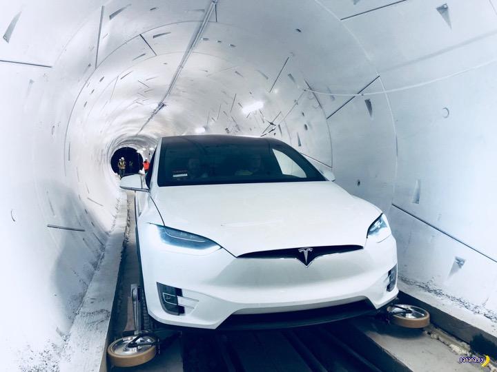 Маск запустил первый тоннель под Лос Анджелесом