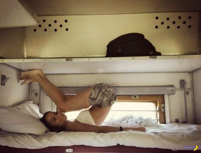 Сексуальные попутчицы в поездах