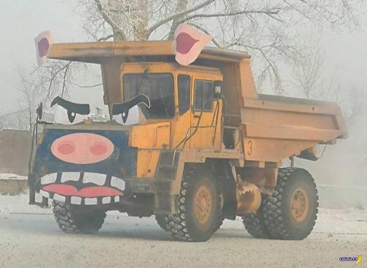 Свинский БелАЗ в Красноярске
