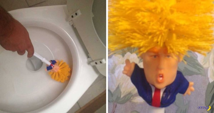 Трамп и Make toilets clean again!