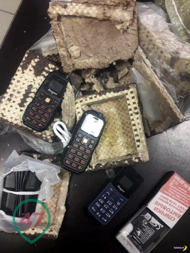 На зону пытались передать телефоны в вафлях