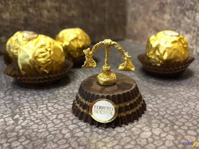 Не выбрасывайте фольгу он конфет Ferrero Rocher!