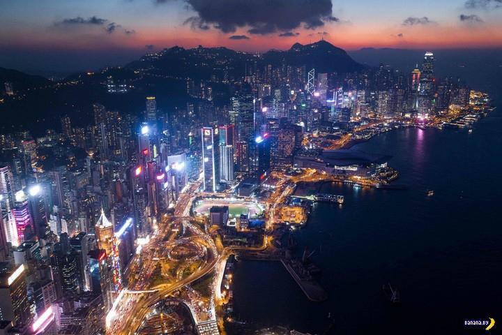 Гонконг сверху